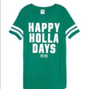 Vs Pink Happy Holla Days Tee